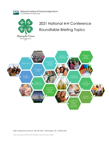 Roundtable topics-National 4-H Conference 2021