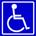 ADA wheelchair-sign small