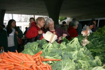 Shoppers at Farmers Market