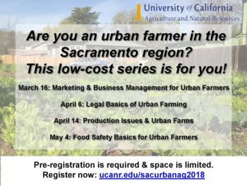 Sacramento Area Urban Agriculture Workshops
