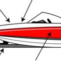 Locations on boat and trailer where mussels and veligers may be found