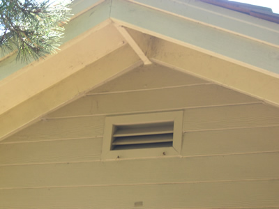 A Gable End Vent Usually Located Just Below The Ridge Of Roof