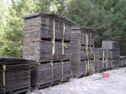 Air drying milled lumber