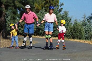 Family Rollerblading