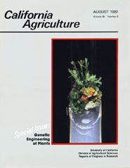 California Agriculture, Vol. 36, No.8