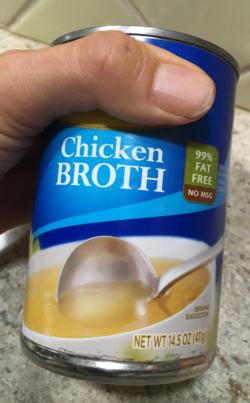 1 can (about 2 cups) of chicken broth, low sodium