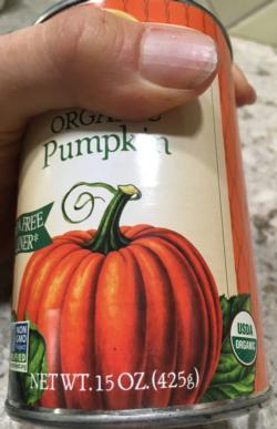 1 can (15-16 ounces) of pumpkin