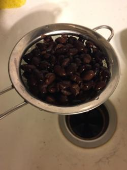 Drain the beans and/or rinse with water
