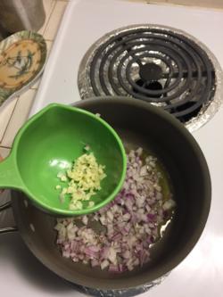 Add minced garlic