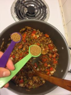 Add 1 1/4 teaspoons of cumin