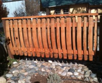 wine barrel fence