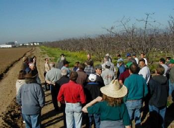 Course field session - looking at on-farm examples of management options