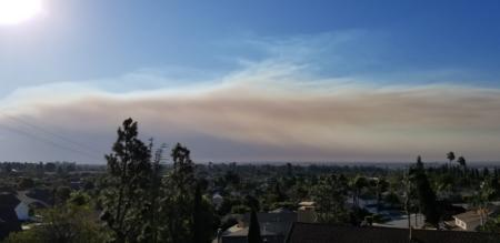 Wall of smoke from the Woolsey Fire as seen from Ventura, 11_9_2018