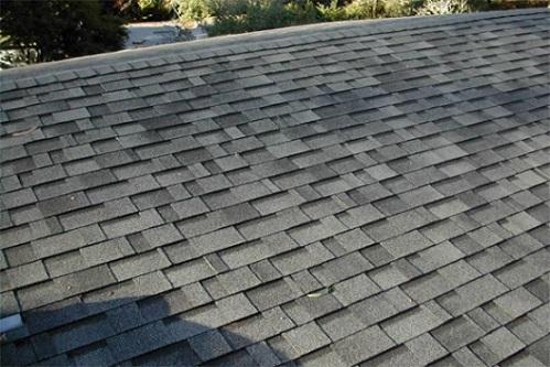 Asphalt fiberglass composition roof shingles
