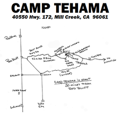 Camp Tehama Directions Map