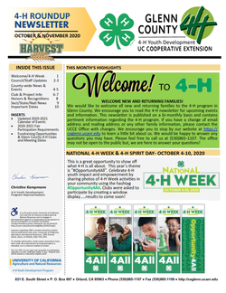 Glenn County 4-H Roundup Newsletter October & November 2020_001