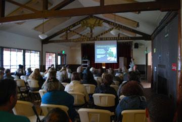 Photo of presentation and audience during Workshop at Camp Marston, Julian, CA