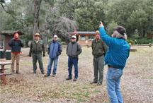 Co-instructor, Doug McCreary presenting during field training at William Heise County Park
