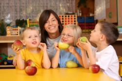 Healthy snacks in classroom