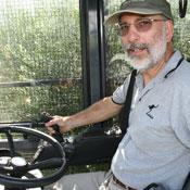 Paul takes a turn at driving the Colossus