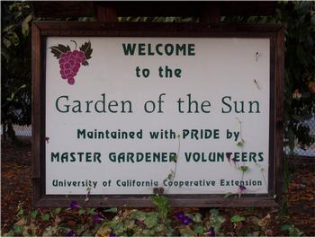 The Master Gardeners welcome you to the Garden of the Sun.