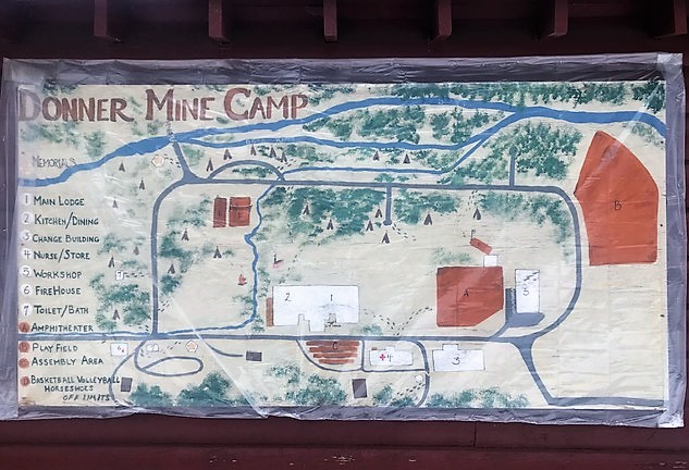 Donner Mine Camp map