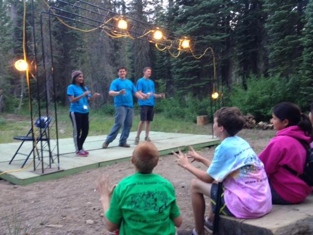 Jr. Camp Directors Speak With Campers