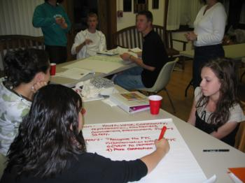 Founding Members work on Mission Statement