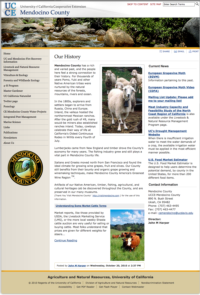 Thumbnail of Mendocino County Cooperative Extension homepage