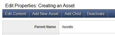Add an asset from Page Properties