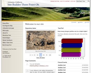Thumbnail image of website header Design One