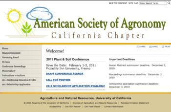 Thumbnail image of website header for American Society of Agronomy