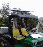 Fig. 1. Mobile gas  chromatograph-spectrometer  on the back of a tractor.