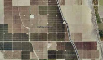 Fig.2. Aerial view of almond orchard. near Bakersfield, CA