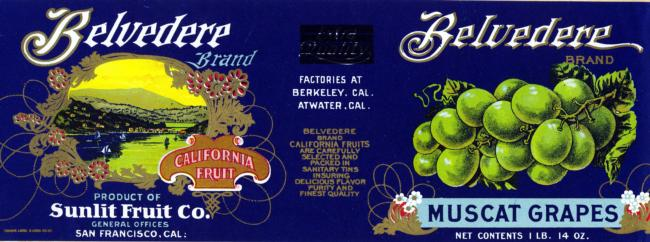 Historic Can, Jar and Bottle Labels - Merced County