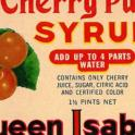 Queen Isabella Cherry Punch Syrup Label
