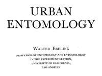 Walter Ebeling Urban Entomology