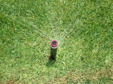 Install matched precipitation sprinkler nozzles to improve irrigation efficiency.