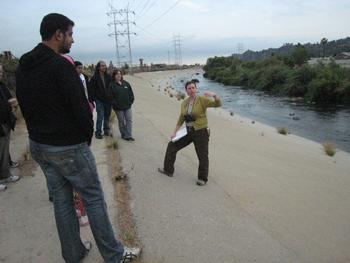 Talking about habitat at the LA River State Park