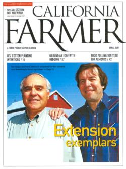 """Zalom received the """"Award for Outstanding Achievement"""" from the Friends of Agricultural Extension in 2001."""